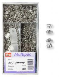 NF-Druckknopf Jersey Zackenring MS 10 mm silberfarbig