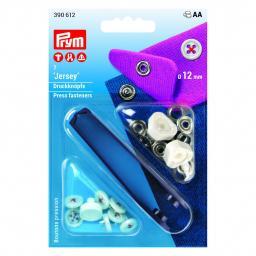 Non-sew press fasteners 12 mm red