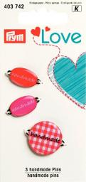 Prym Love handmade pins red          3pc