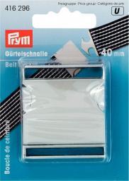 Gürtelschnalle 40 mm silberfarbig matt
