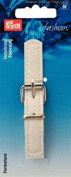 Fastening imit.leath.14mm 11.5cm wht 1pc