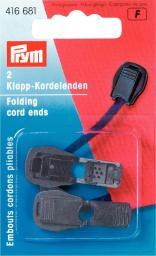 Klapp-Kordelenden KST schwarz