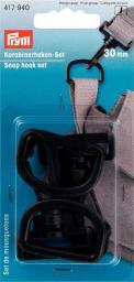 Karabinerhaken Set KST 30 mm schwarz
