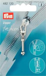 Fashion-Zipper Keulen silberfarbig