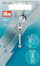 Fashion-Zipper Keulen silberfarbig
