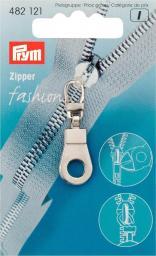 Fashion-Zipper Öse silberfarbig