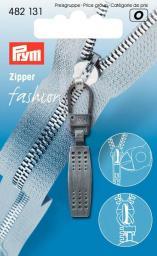 Fashion-Zipper Matrix schwarz gebürstet