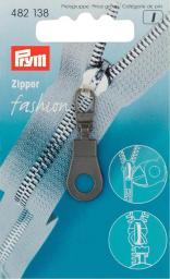 Fashion-Zipper Öse schwarz