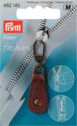 Fashion-Zipper Leder braun