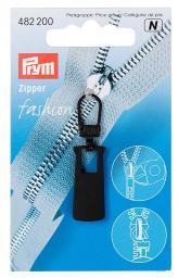 Fashion-Zipper Metall schwarz