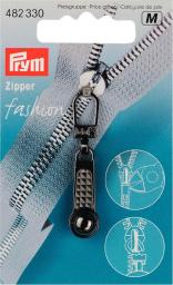 Zip puller Ball steel-coloured       1pc