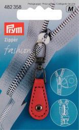 Fashion Zipper Lederimitat rot