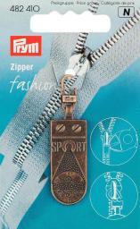 Fashion-Zipper Sportstar altmessing