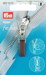 Fashion-Zipper Pure dunkelbraun