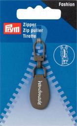 Fashion-Zipper handmade grau
