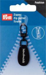 Fashion-Zipper handmade braun