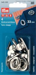 Drehverschlüsse MS 33 mm silberfarbig