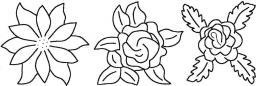 Quilt-Schablone Blumen