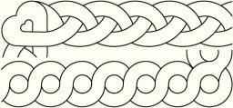 Quilt-Schablone Zopf