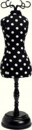 Pin cush.dressf. PolkaDots Black/Wht 1pc