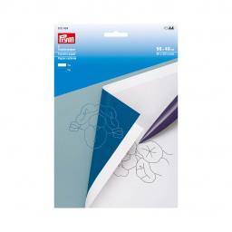 Transferpapier weiß/blau