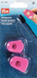 Nadelgreifer Silikon pink M + L