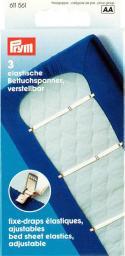 Betttuchspanner Elastic 18 mm weiß