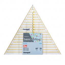 Patchwork-Lineal 60 Grad Dreieck Multi 20cm Omnigrid