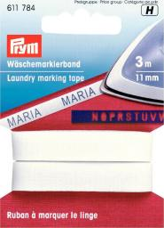 Laundry mark tape co 11mm iron-on wht 3m