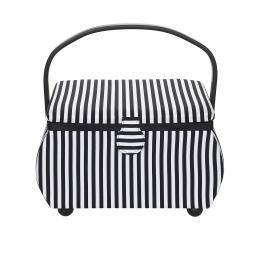 Nähkorb L Stripes modern