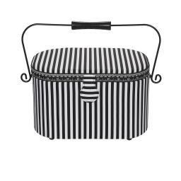 sewing basket L Stripes classic