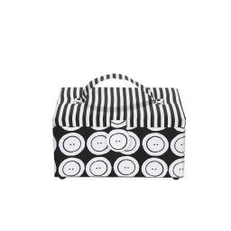 Nähkorb M Buttons & Stripes