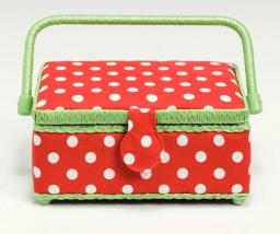 Sewing basket Polka Dots Red/White S 1pc