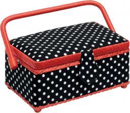Sewing basket Polka Dots Black/Wht S 1pc