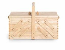 sewing basket wood light L