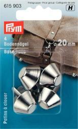 Bodennägel für Taschen 20 mm silberfarbig