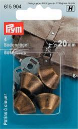 Bodennägel für Taschen 20 mm altmessing