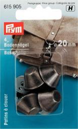 Bodennägel für Taschen 20 mm altsilber