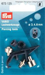 Piercing tools for vario 3,4+8 mm 3pc