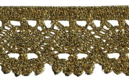 Bobbin Lace 30Mm Lurex Gold / Silver