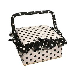 sewing basket polka dots