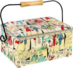 Sewing Basket Cotton Vintage Pattern