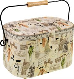 Sewing Basket Cotton Vintage Cotoure