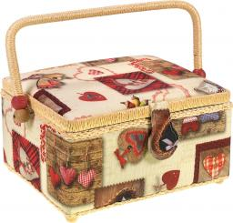 Sewing Basket Cotten Winterhearts