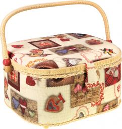 Sewing Basket Cotton Winterhearts