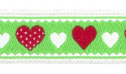 Woven Ribbon Heart Large / Small 13Mm