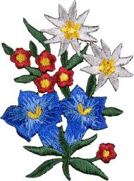 Motif Iron-On Alpine Flowers