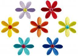 Applikation Sort. 7x1 Blüten