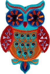 Motif Owl Turquoise Orange
