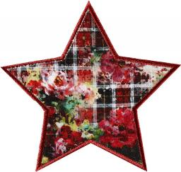 Application iron-on Star Red-flowered